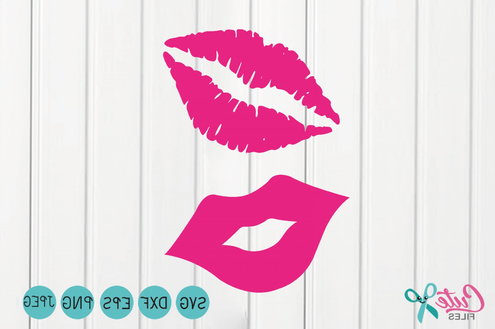 Kiss Clip Art Vector: Kiss Svg Lips Svg Happy Valentines Day Svg Files Kiss Clipart Lips Silhouette Studio Lips Vector File For Cutting Machines Kisses