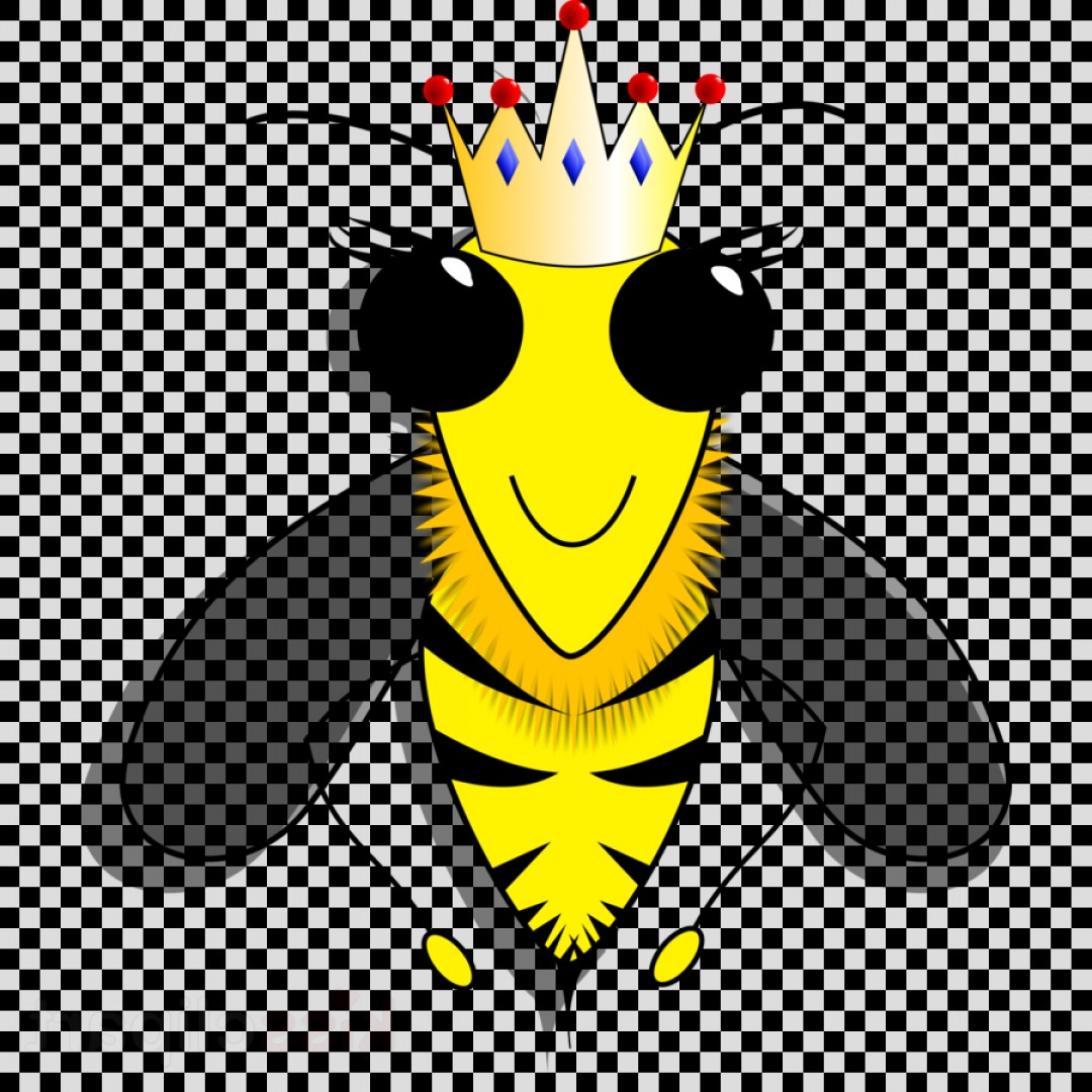 GA Tech Stinger Vector Art: Kissclipart Queen Bee Png Clipart Western Honey Bee Queen Bee Fafafbaa