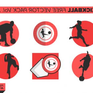 Red Kickball Vector: Kickball Free Vector Pack Vol