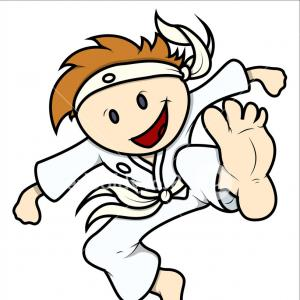 Karate Vector: Royalty Free Stock Images Karate Vector Illustration Image