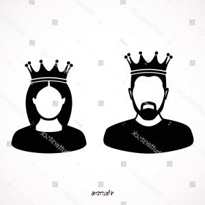 King And Queen Vector: King Queen Icons Simple Style On
