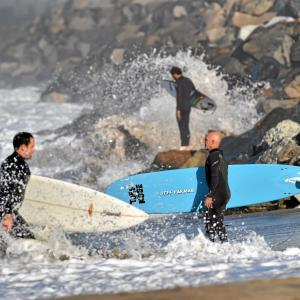San Diego Surfboard Vector: King Tides Threaten Coastline From Seal Beach To Malibu