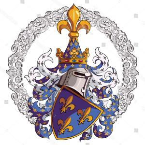Scotland Heraldic Vector Graphic: Knightly Coat Arms Medieval Knight Heraldry