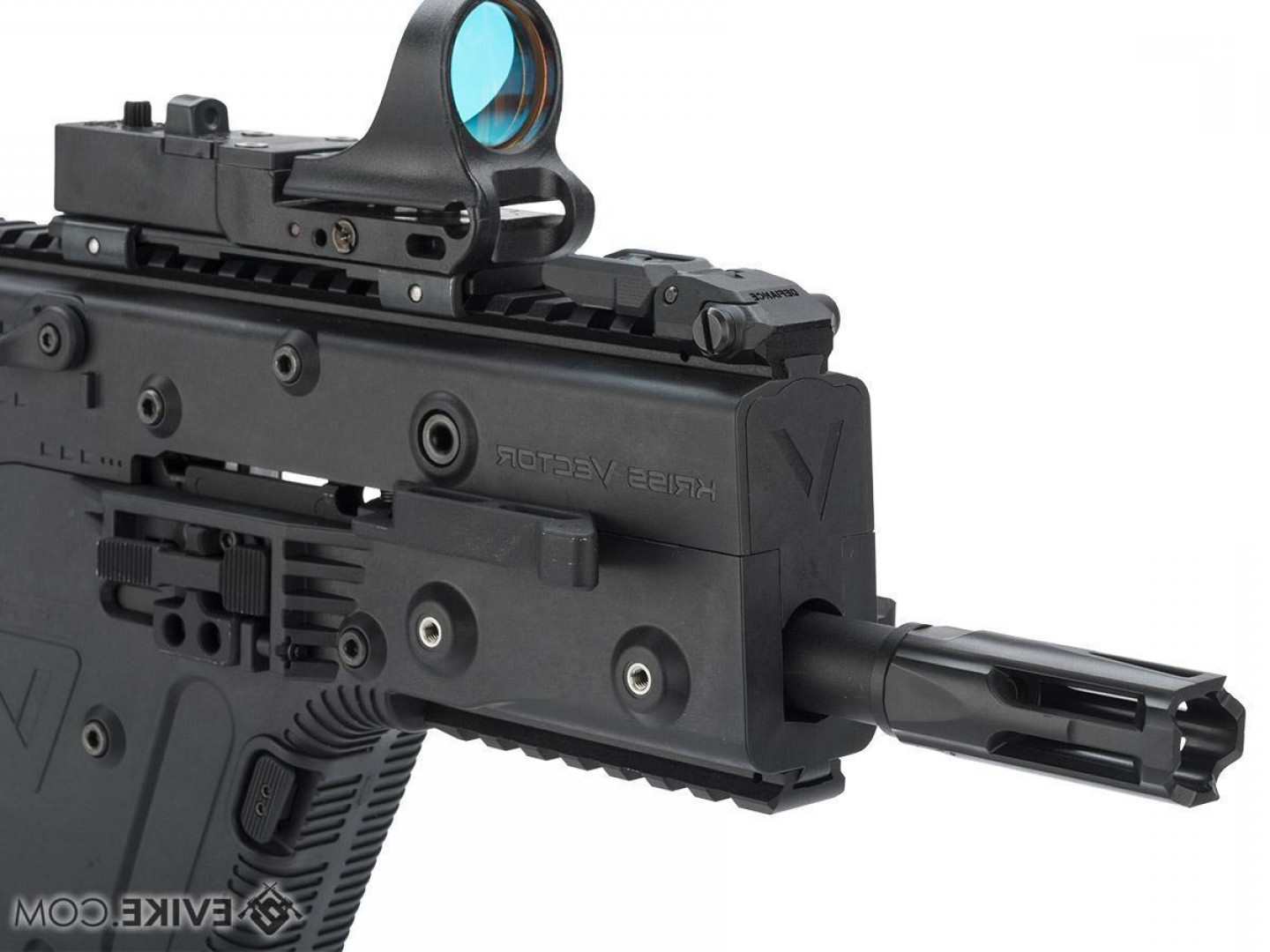 Custom Kriss Vector Airsoft Firing: Kriss Usa Licensed Kriss Vector Airsoft Aeg Smg Rifle By Krytac Model Black