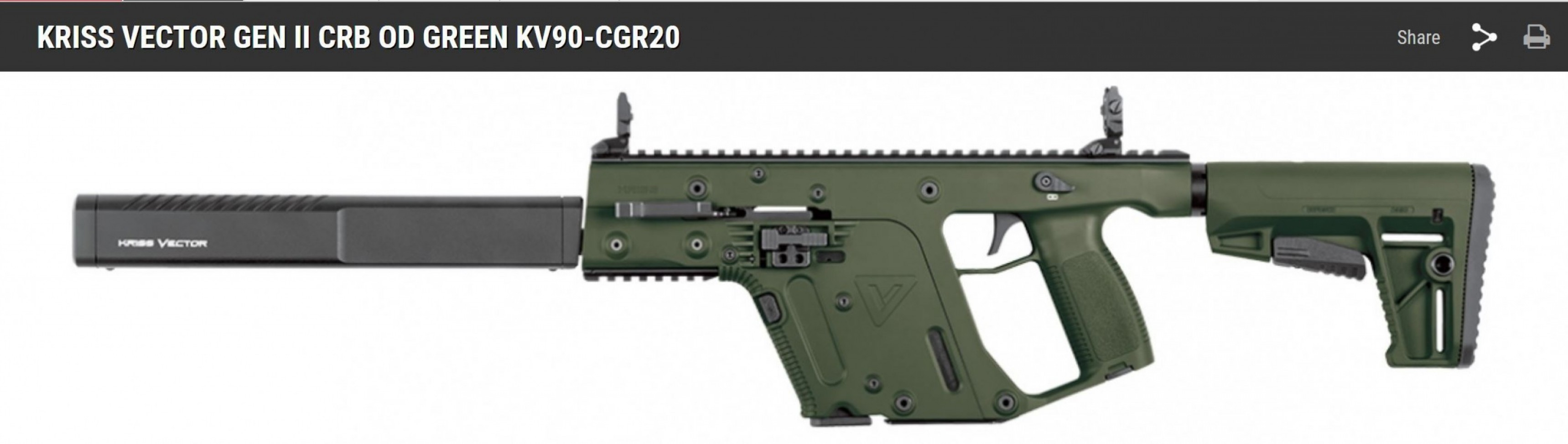 Kriss Vector Pistol Genii: Kriss Vector Crb And Pistols With Braces