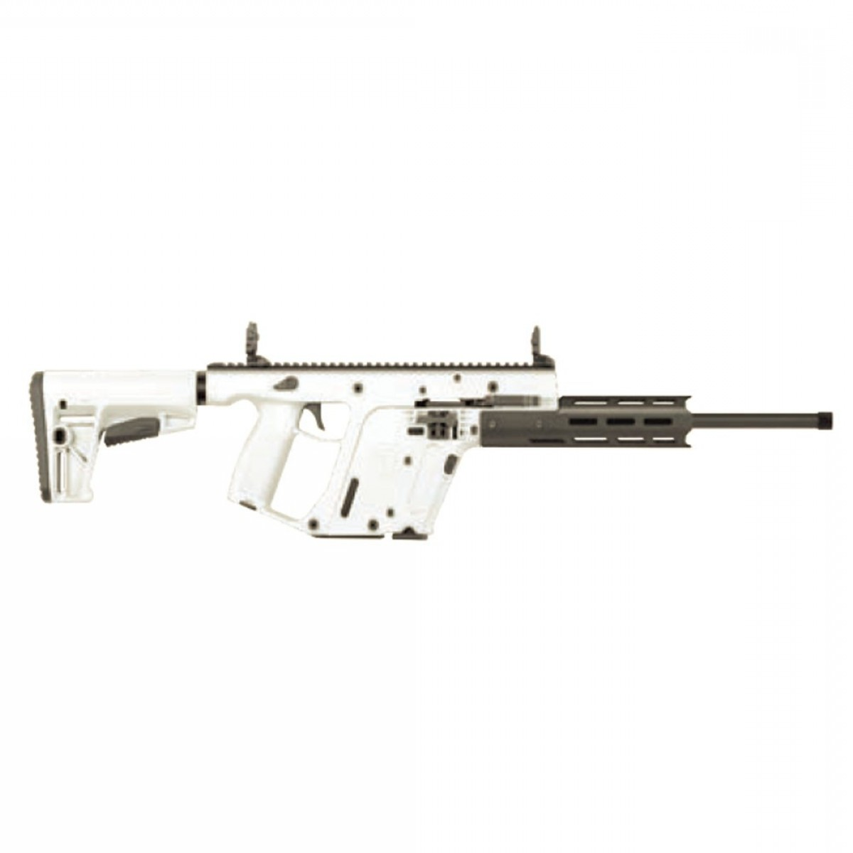 Custom Kriss Vector Airsoft Firing: Kriss Vector Crb Gen Ii Semi Auto Rifle Lr Barrel Alpine White Kv Sap