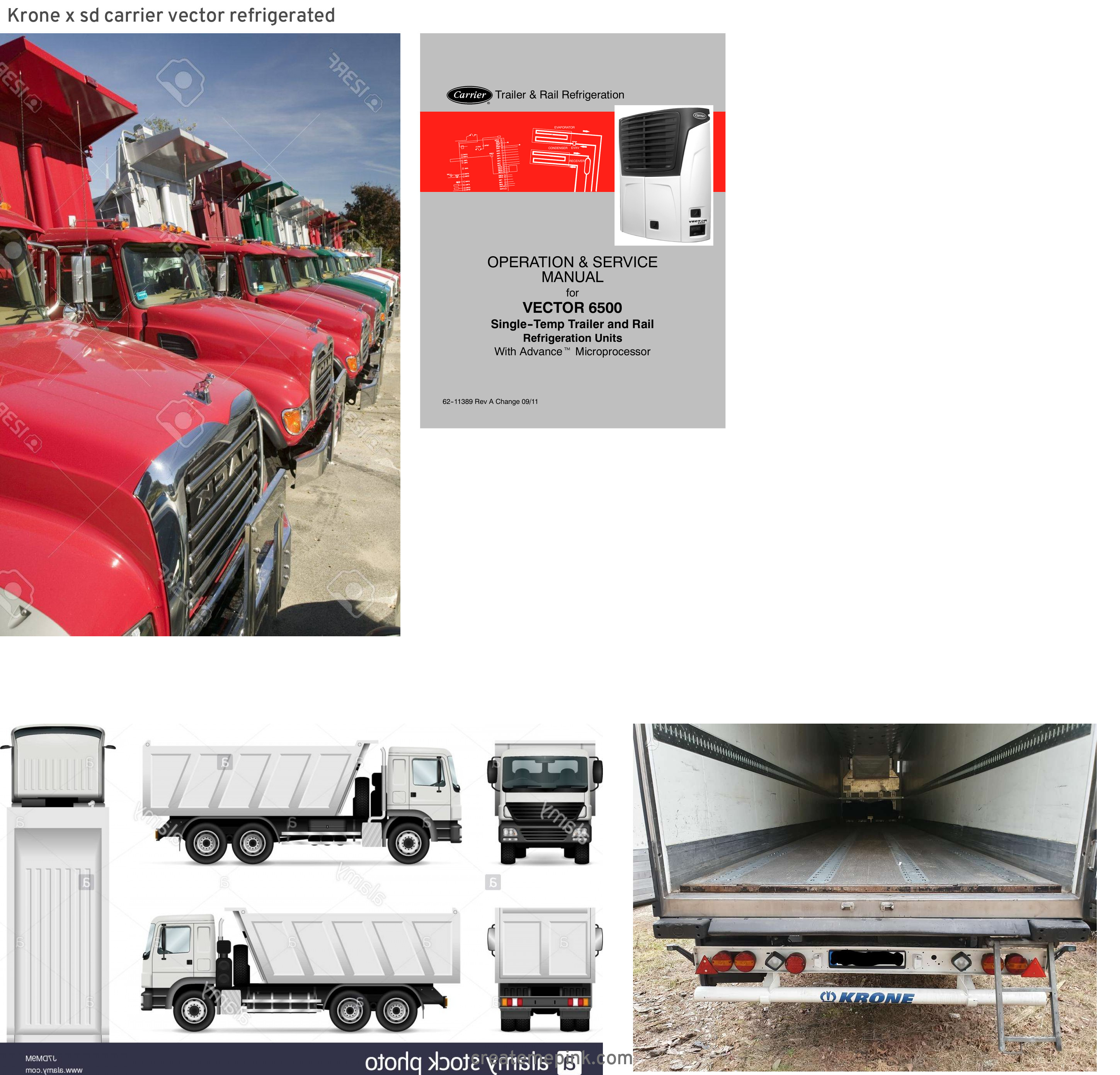 Carrier Vector 8600 Truck: Krone X Sd Carrier Vector Refrigerated