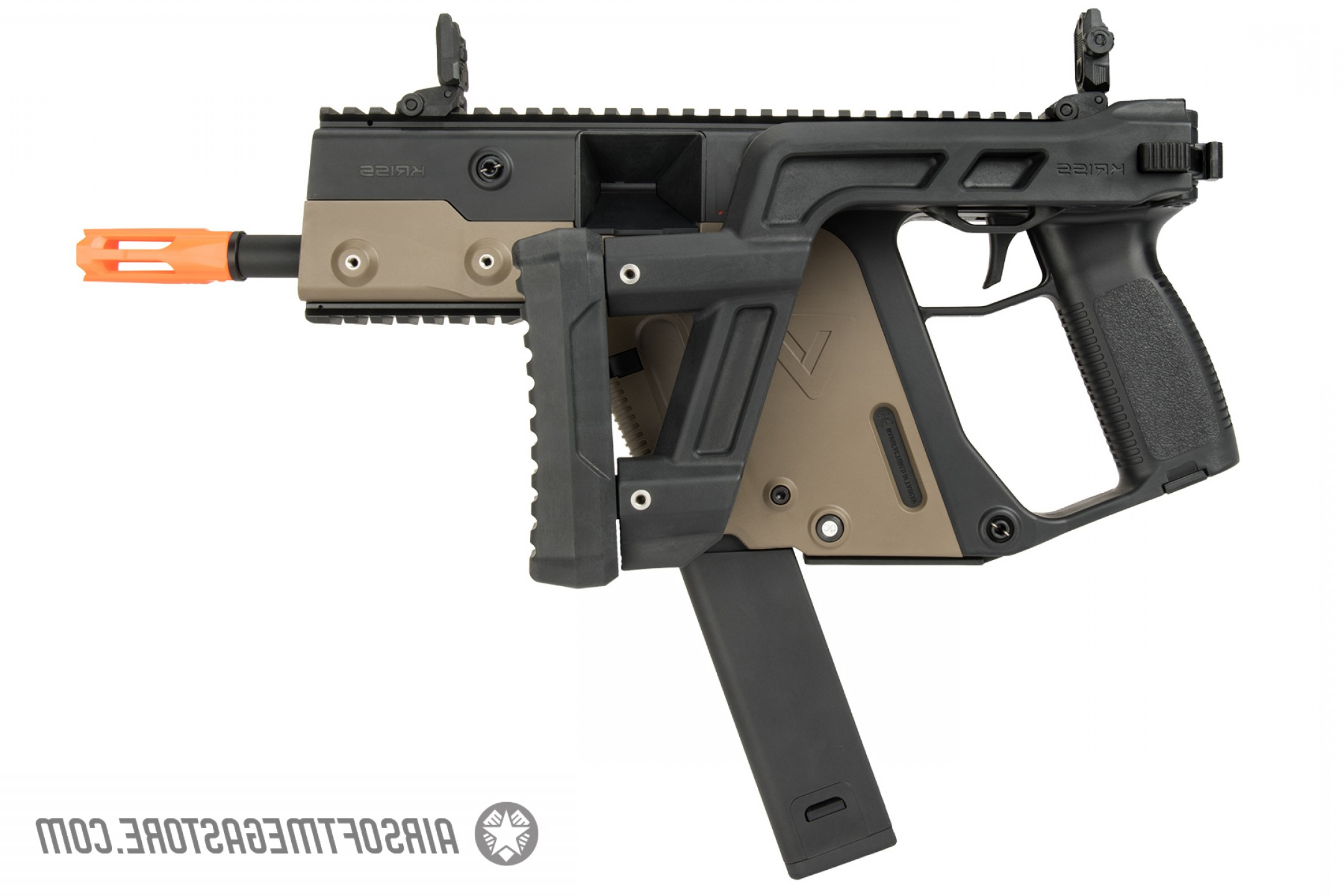 For Kriss Vector Side Picatinny Rails: Krytac Kriss Vector Airsoft Aeg Gen Ii Model Submachine Gun Dual Tone Kui Ktaeg Vsmgf T