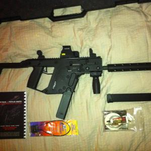 Kriss Vector SMG With Under Barrel: Kriss Super V Vector V Barrel All Upgrades