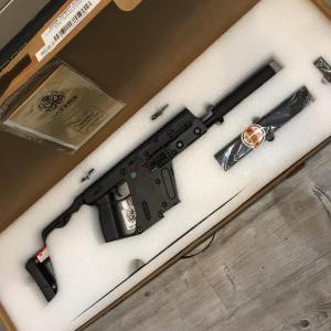 Kriss Vector Magazine Extension Kit: Krytac Kriss Vector Airsoft Aeg Smg Rifle W Mock Suppressor Bk