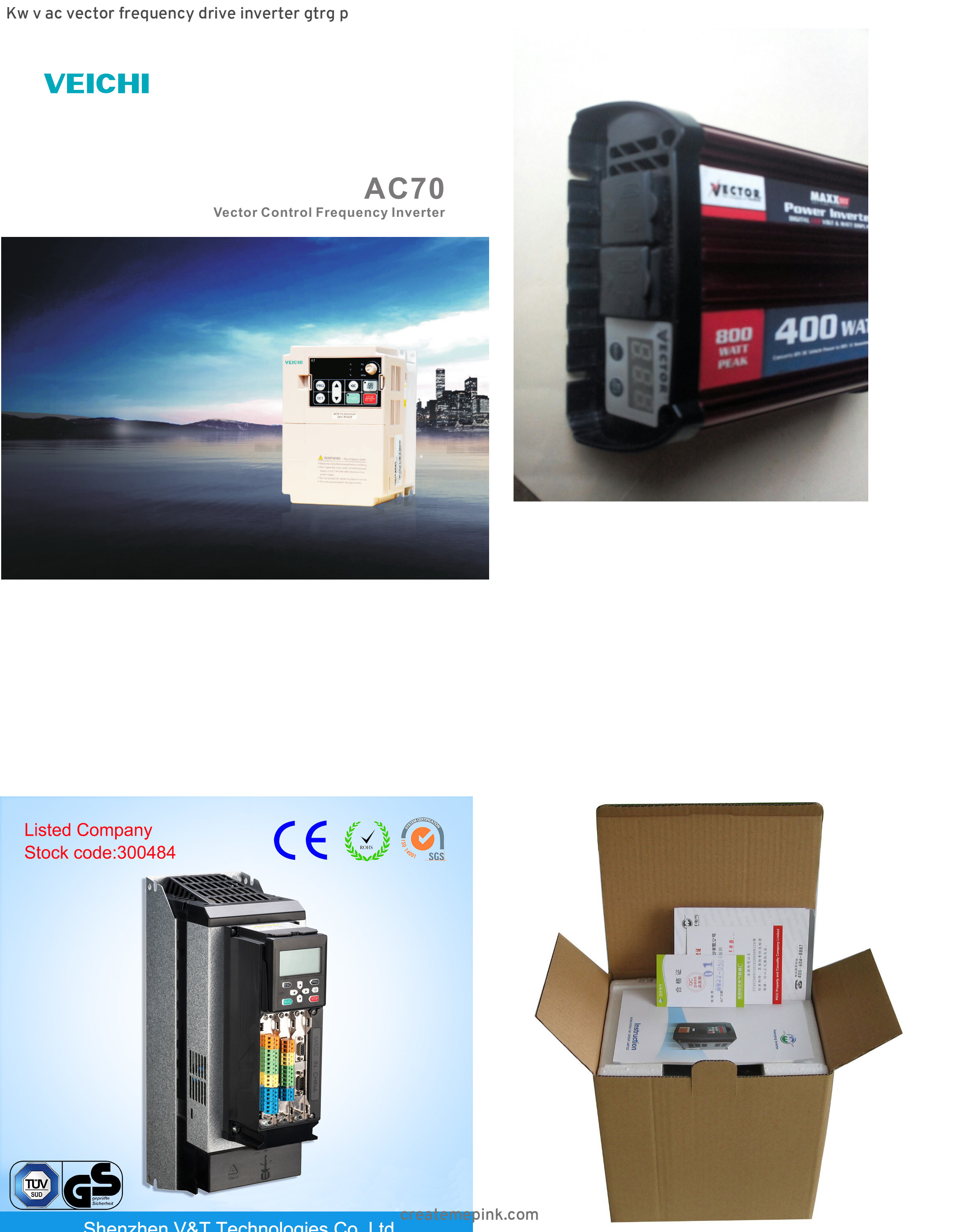 Vector Inverter 400: Kw V Ac Vector Frequency Drive Inverter Gtrg P