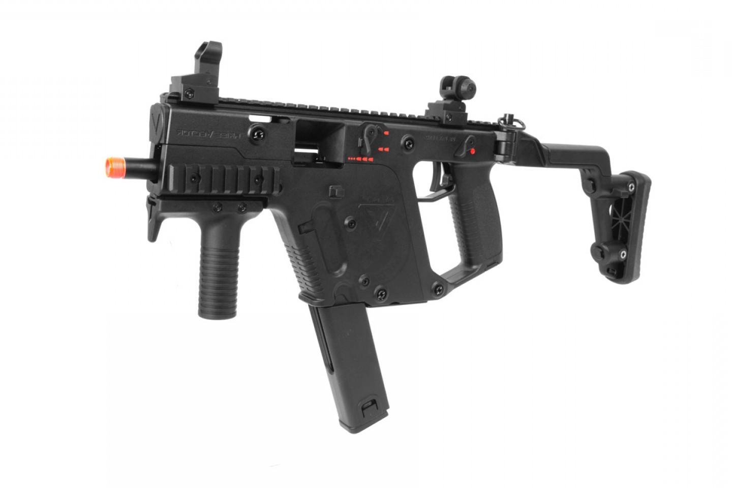 Kriss Vector SMG With Under Barrel: Kwa Kriss Vector Smg Gas Blowback Airsoft Gun Ns Black