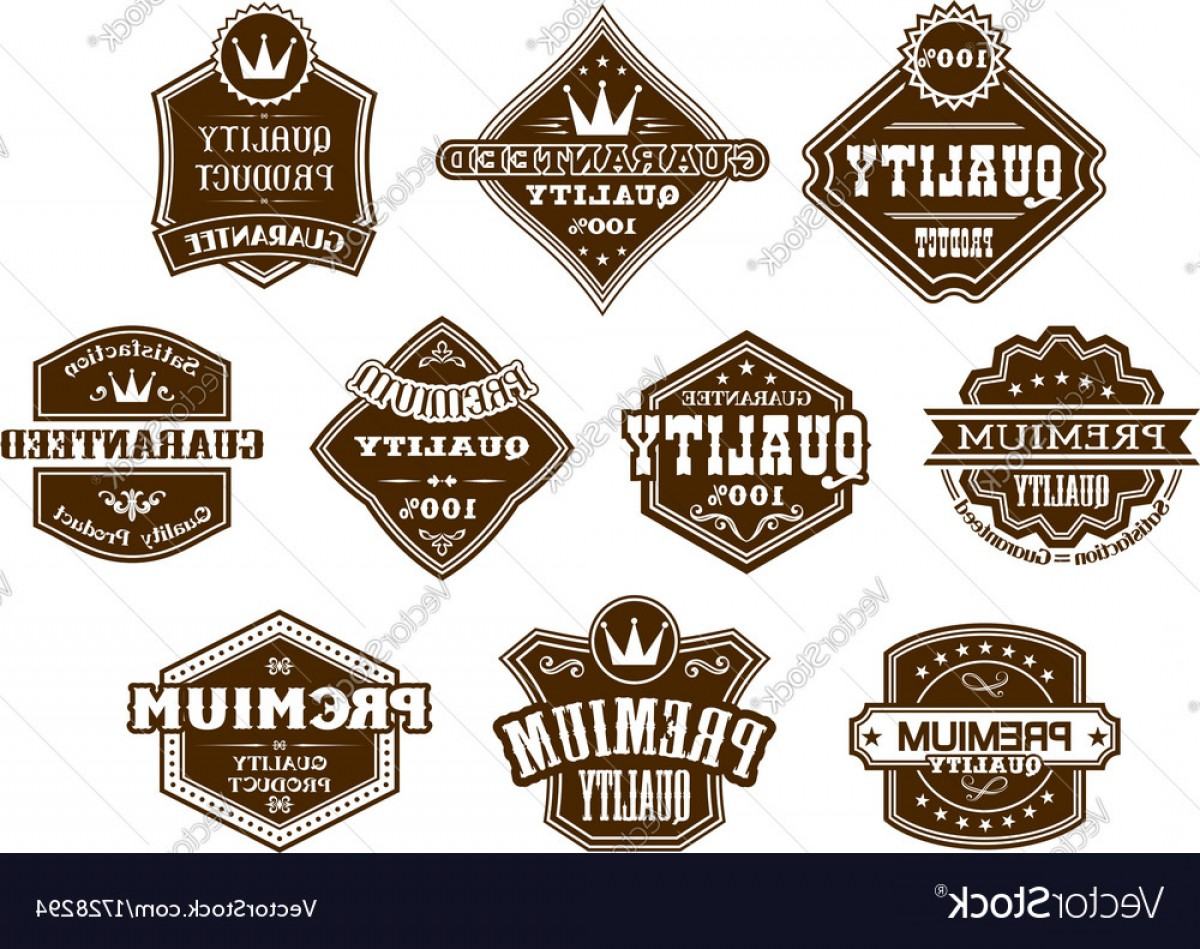 Vector Lables: Labels And Banners In Western Style Vector