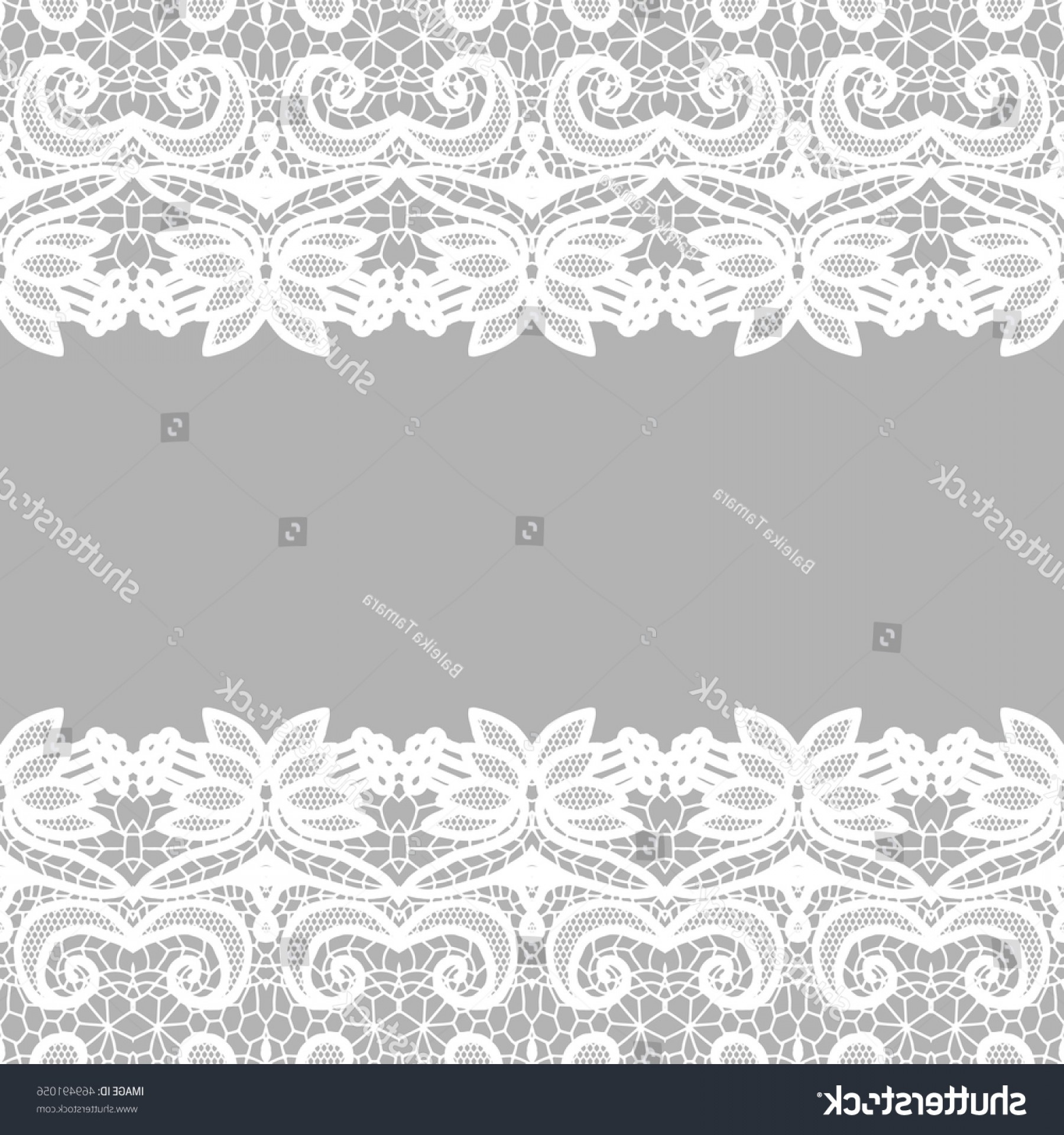 Floral Lace Trim Vector: Lace Border Vector Illustration White Lacy