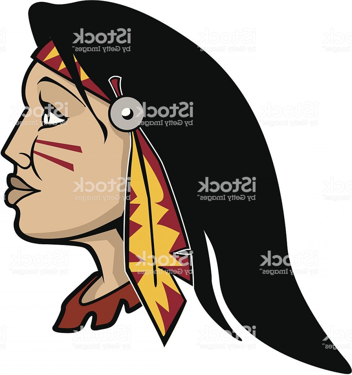 Braves Logo Vector: Lady Braves Sports Mascot Gm