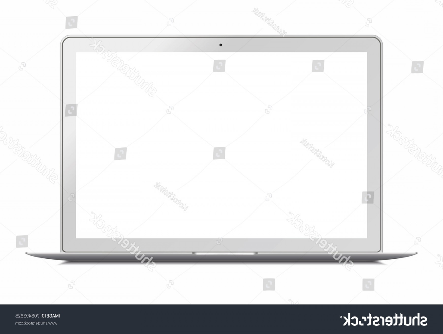 Vector Monitors Mac: Laptop Macbook Air Style Mockup Blank