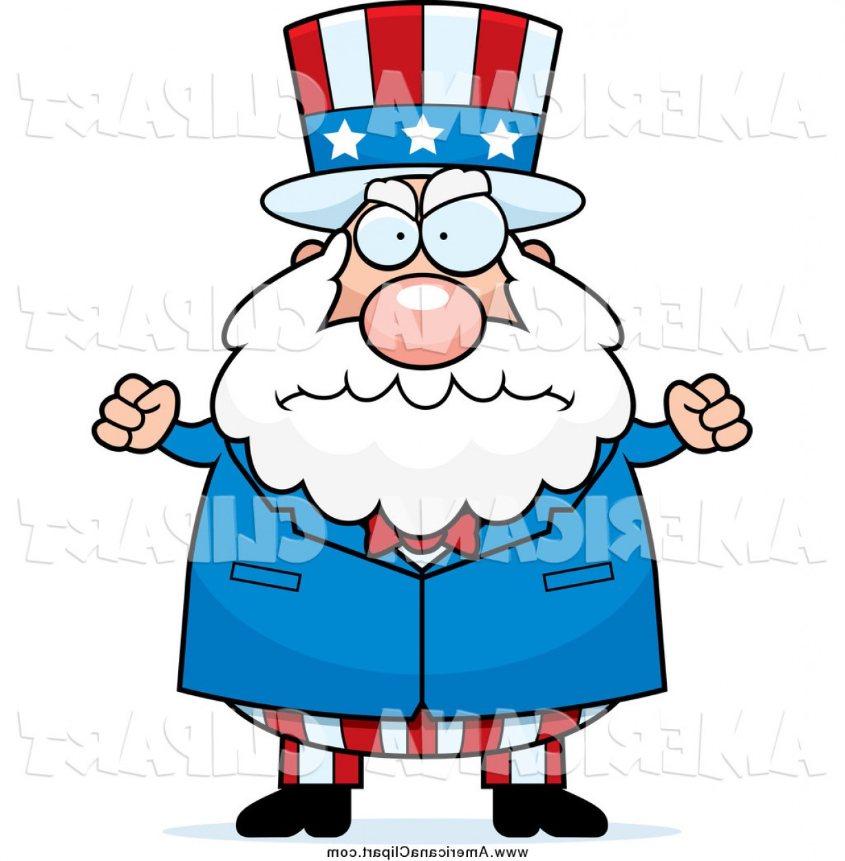 Americana Vector Art: Larger Preview Americana Vector Cartoon Clip Art Of A Chubby Old Clipart