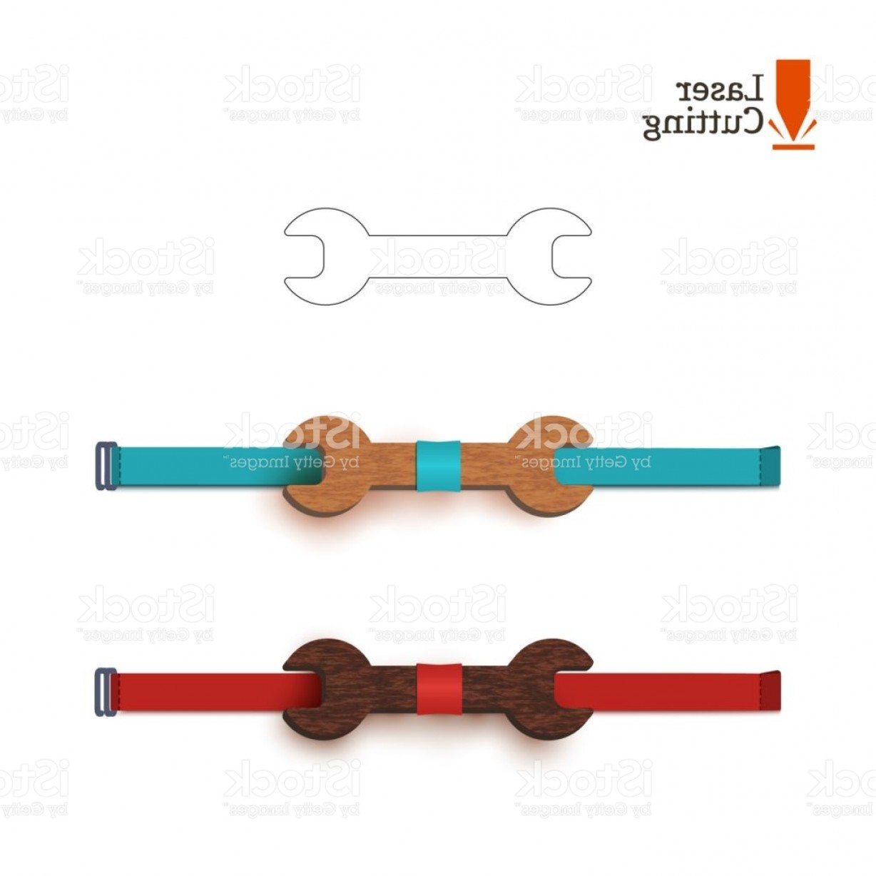 Hand Lathe Vector: Laser Cut Bow Tie Template Whith Wrench Sign Vector Silhouette For Cutting A Bow Tie Gm