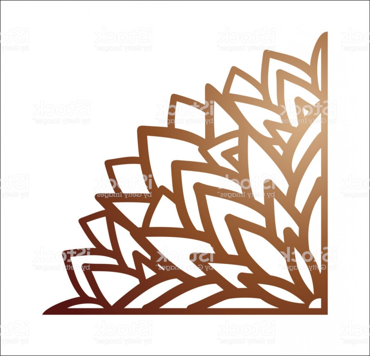 Wrought Iron Vector For CNC: Laser Cutting Corner Vector Template For Paper Cutting Metal And Woodcut Tapestry Gm