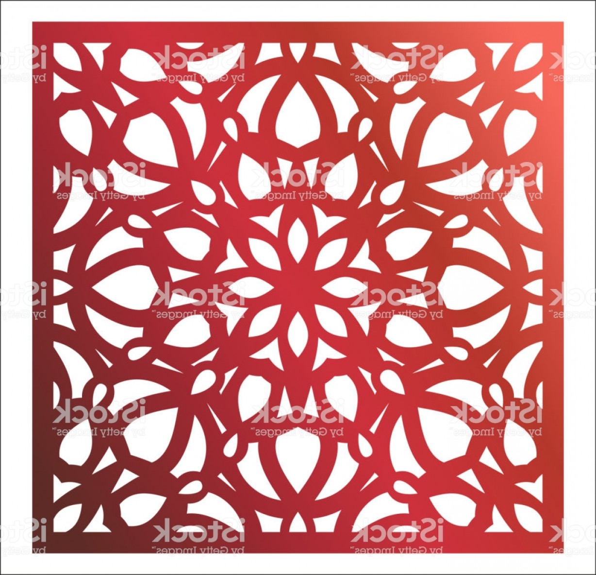 Vector CNC Designs: Laser Cutting Square Panel Openwork Floral Pattern With Mandala Perfect For Gift Box Gm