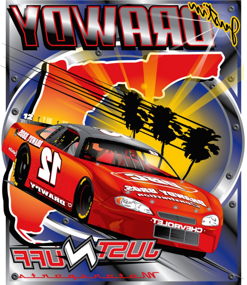 Late Model Race Car Vector Art: Late Model T Shirt Design