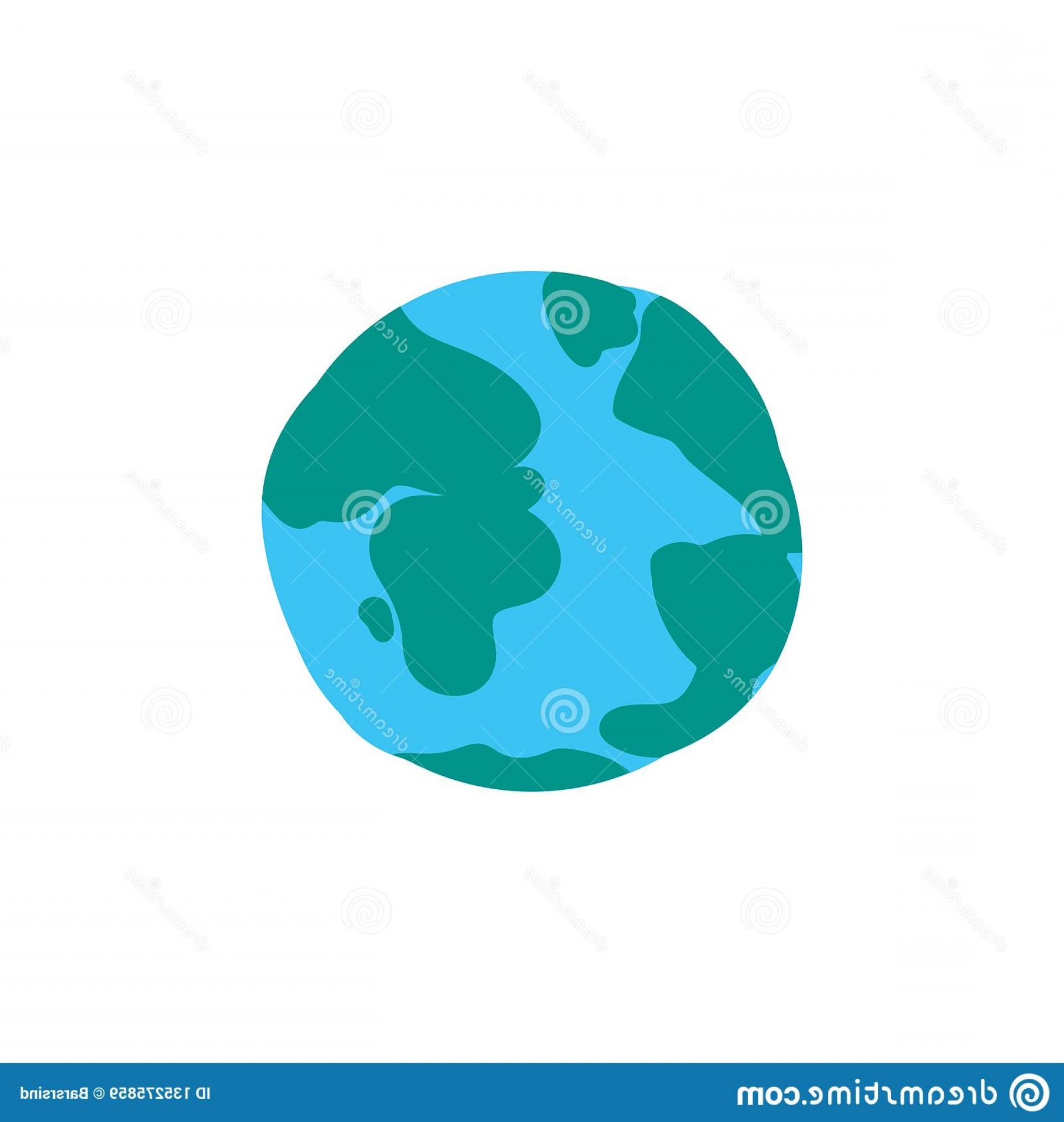 One Color Simple Vector Globe: Latest Planet Globe Flat Color Illustration Stock Vector Illustration Of This Month