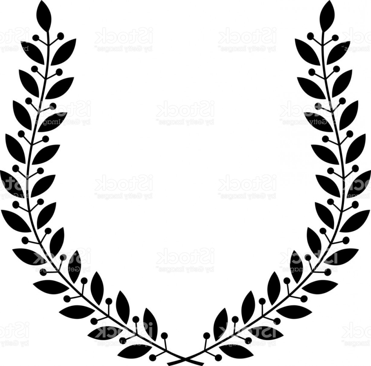 Award Vector Leaves: Laurel Wreath Floral Heraldic Element Heraldic Coat Of Arms Decorative Icon Isolated Gm