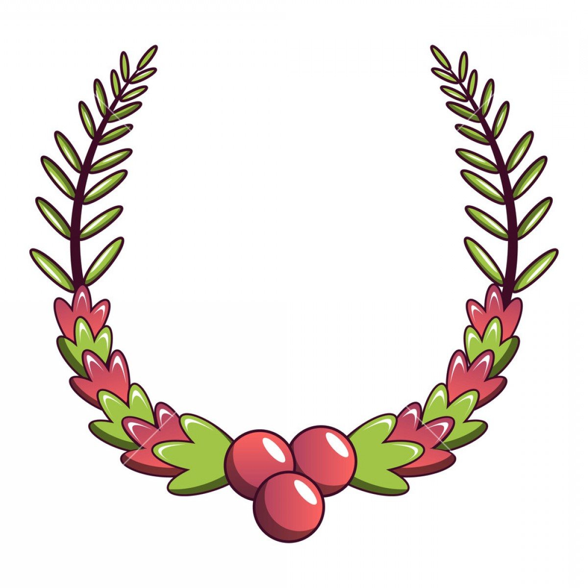 Floral Laurel Wreath Vector: Laurel Wreath Icon Cartoon Illustration Of Laurel Wreath Vector Icon For Web Sgsxtmjogyqa