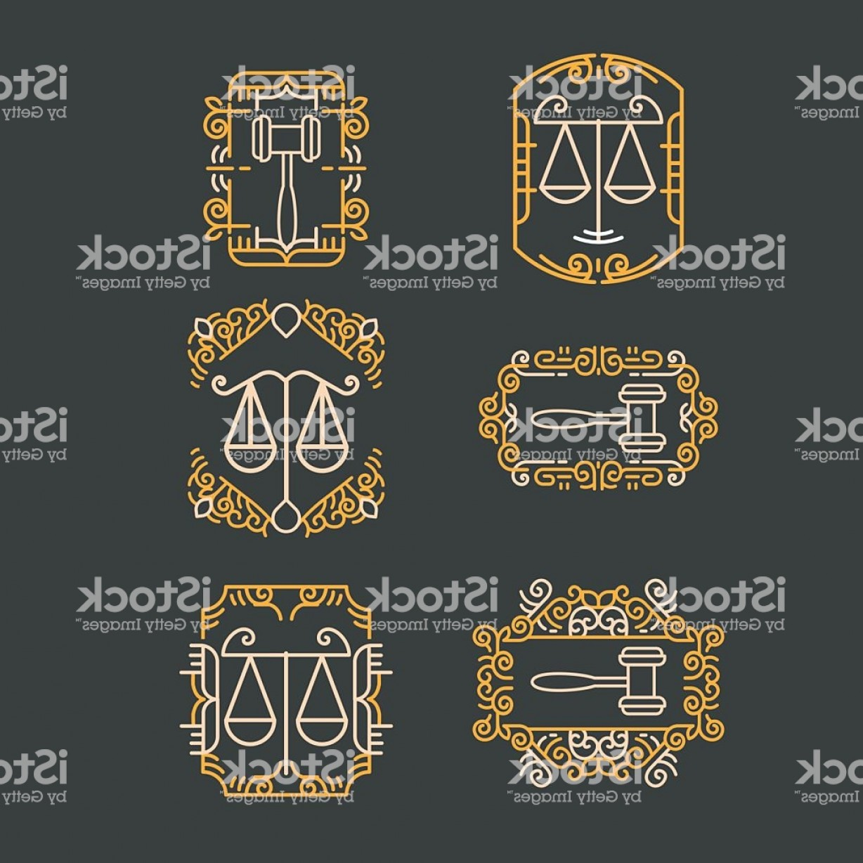 Vintage Sign Vector Attorney-Law: Law Office Logo Set Vector Vintage Lawyer Logo Collection Gm