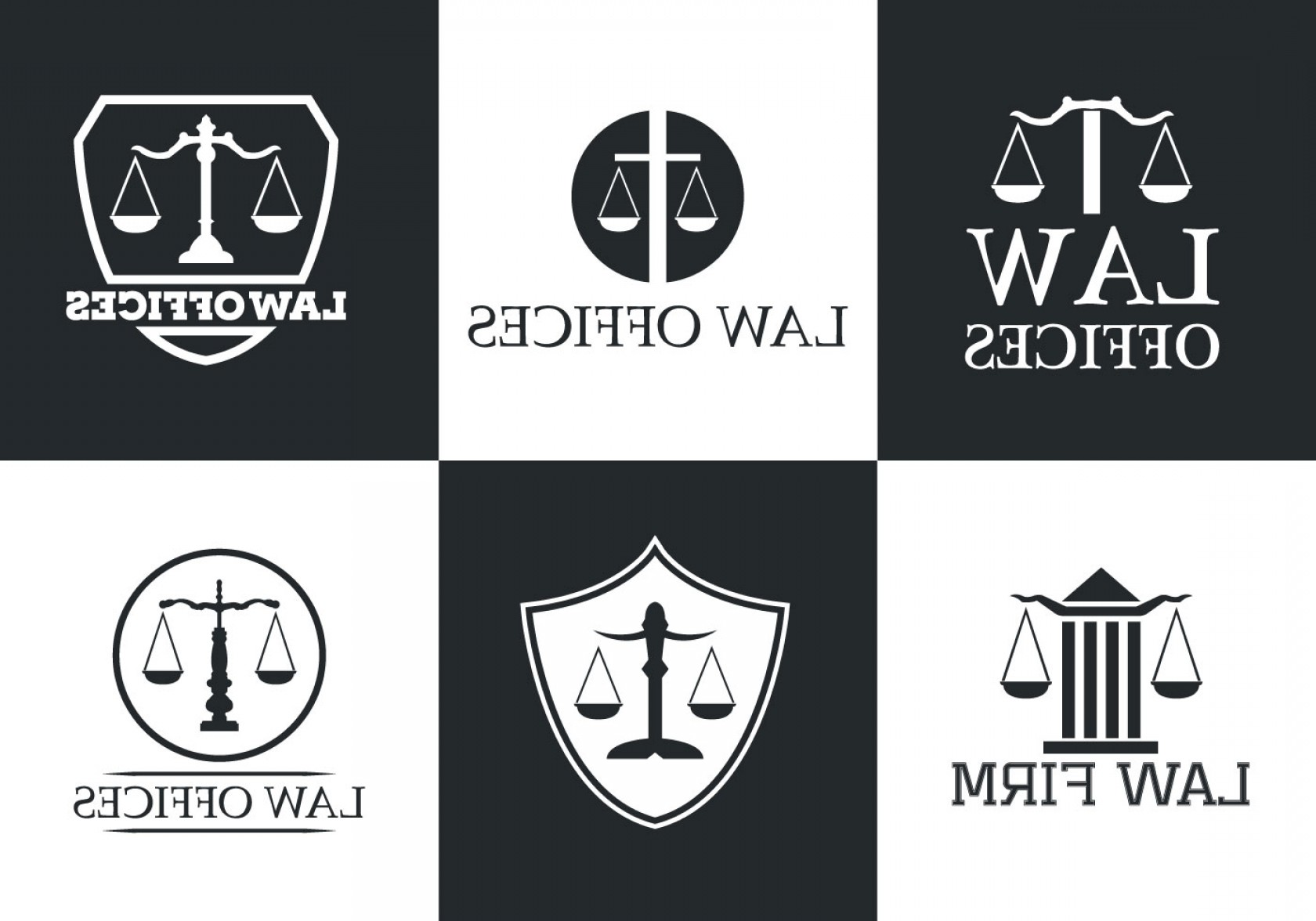 Vintage Sign Vector Attorney-Law: Law Office Vector Logo Collection