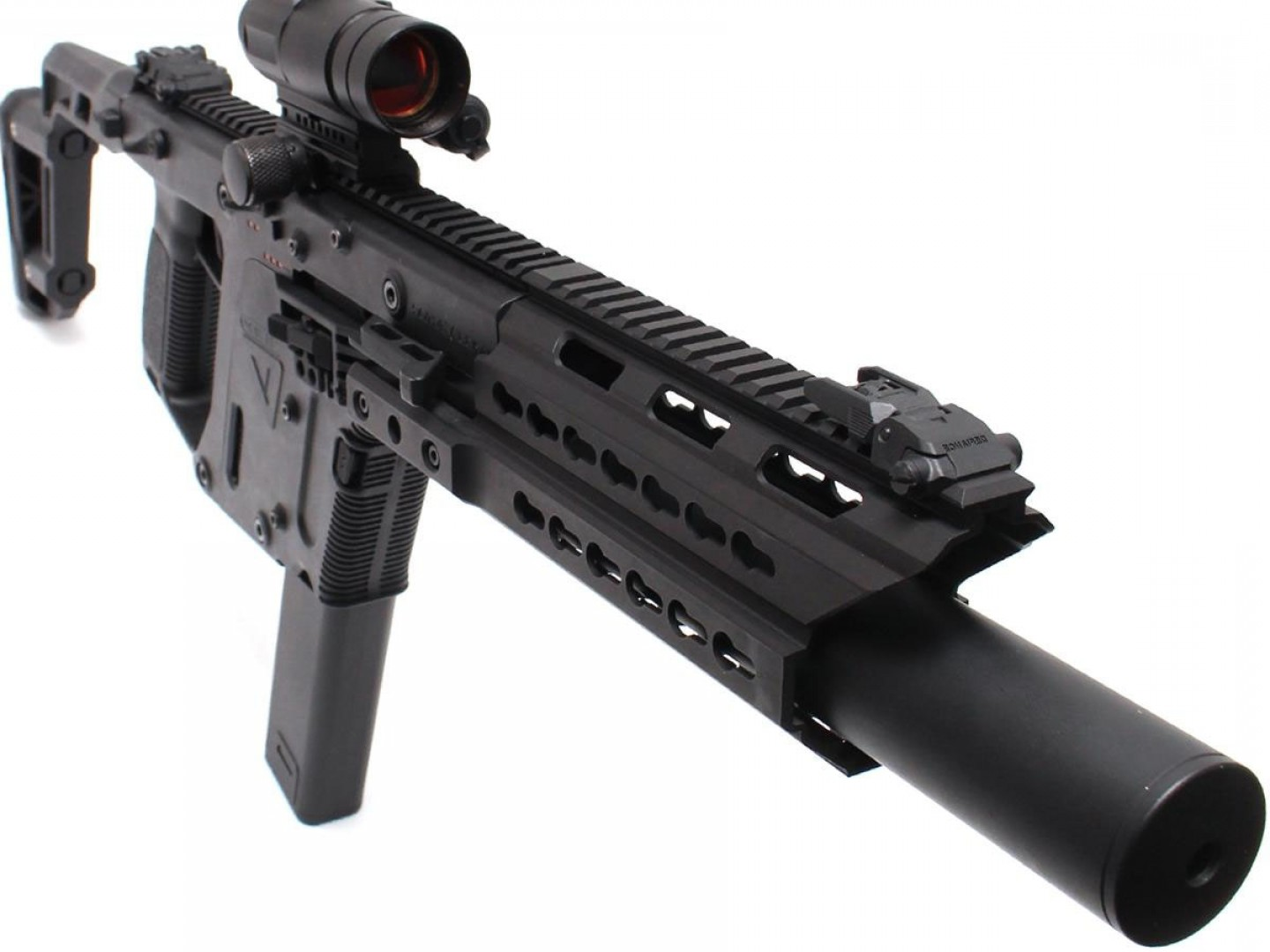 For Kriss Vector Side Picatinny Rails: Laylax Kriss Vector Extended Keymod Handguard Size Longp