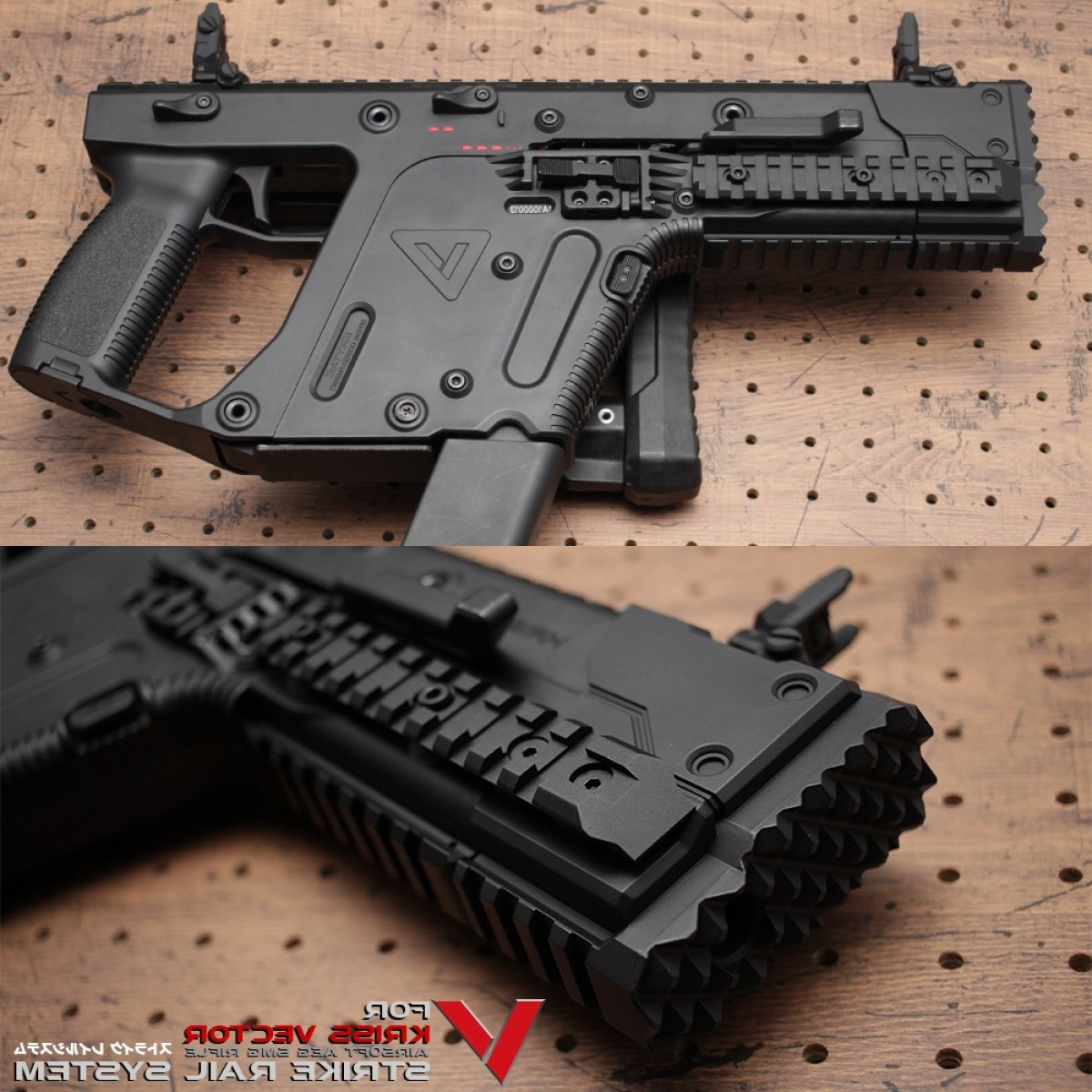 Vector Kriss Scope: Laylax Nitrovo Kriss Vector Strike Rail System