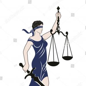 Lady Justice Vector Art: Lady Justice Themis Vector Illustration Silhouette