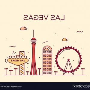 Las Vegas Skyline Vector Art: Las Vegas Skyline Linear Vector