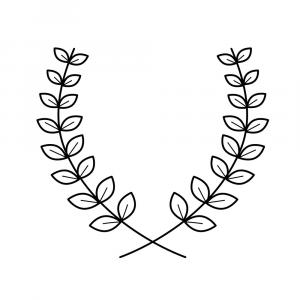 Thin Vector Laurel Wreath: Laurel Wreath Thin Lines