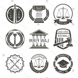 Vector Attorney: Lawyer Law Office Logo Emblem Labels