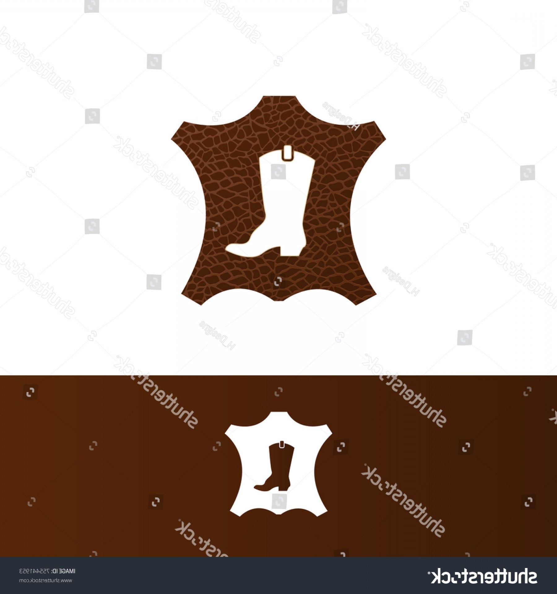 Illustrator Vector Format: Leather Patch Concept Designed Vector Illustrator