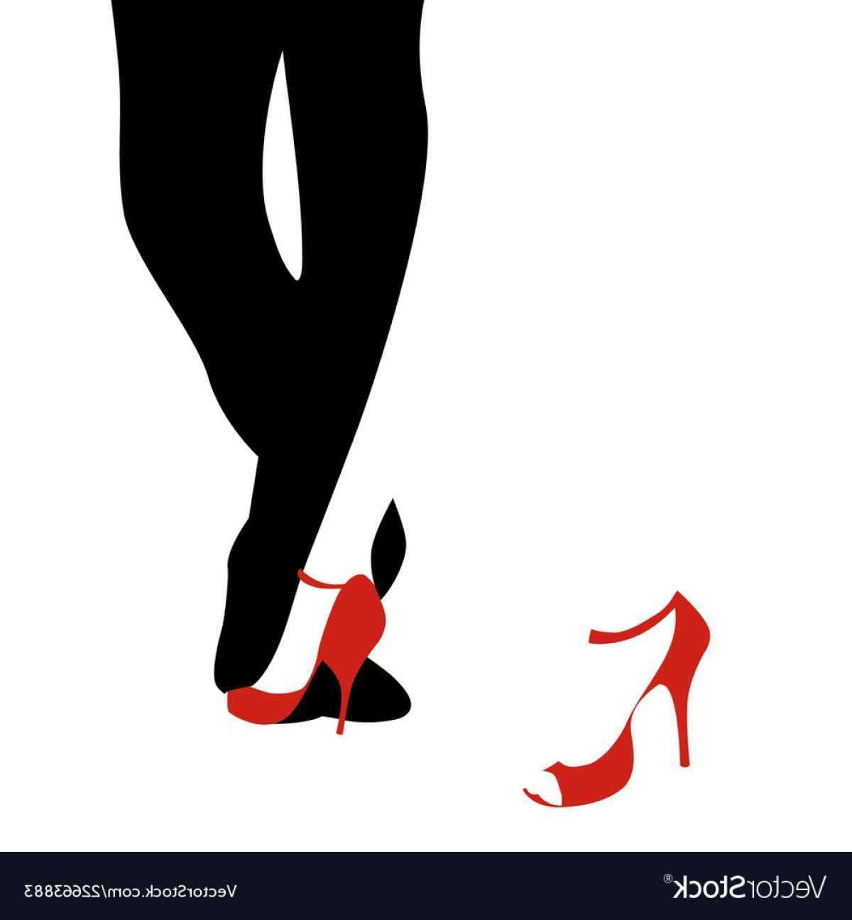 Vector Dancing Shoes: Legs Of Woman And Man Dancing Tango On White Vector