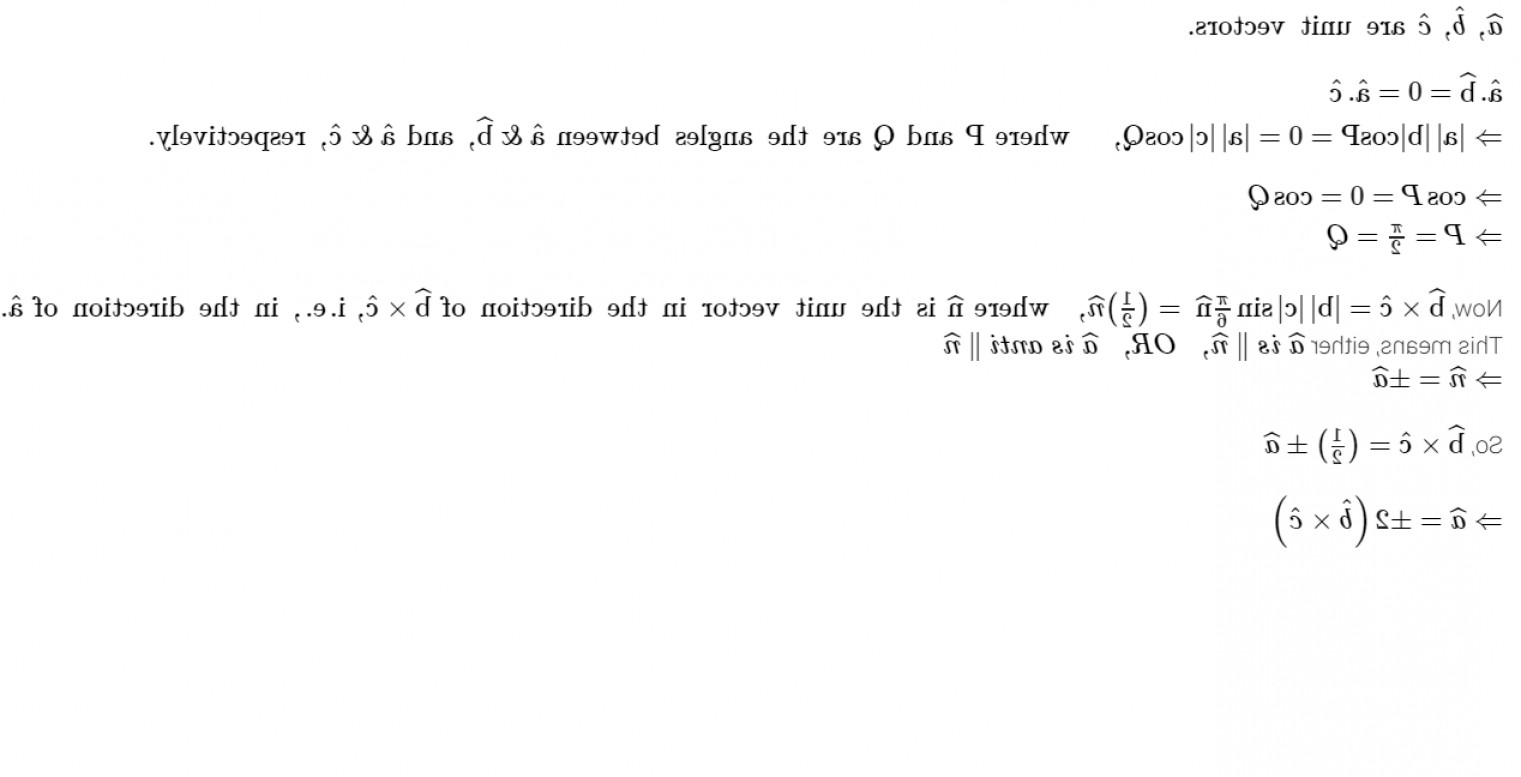 Log C Vector: Let A B C Be Three Unit Vectors Such That A B And A C And The Angle Be