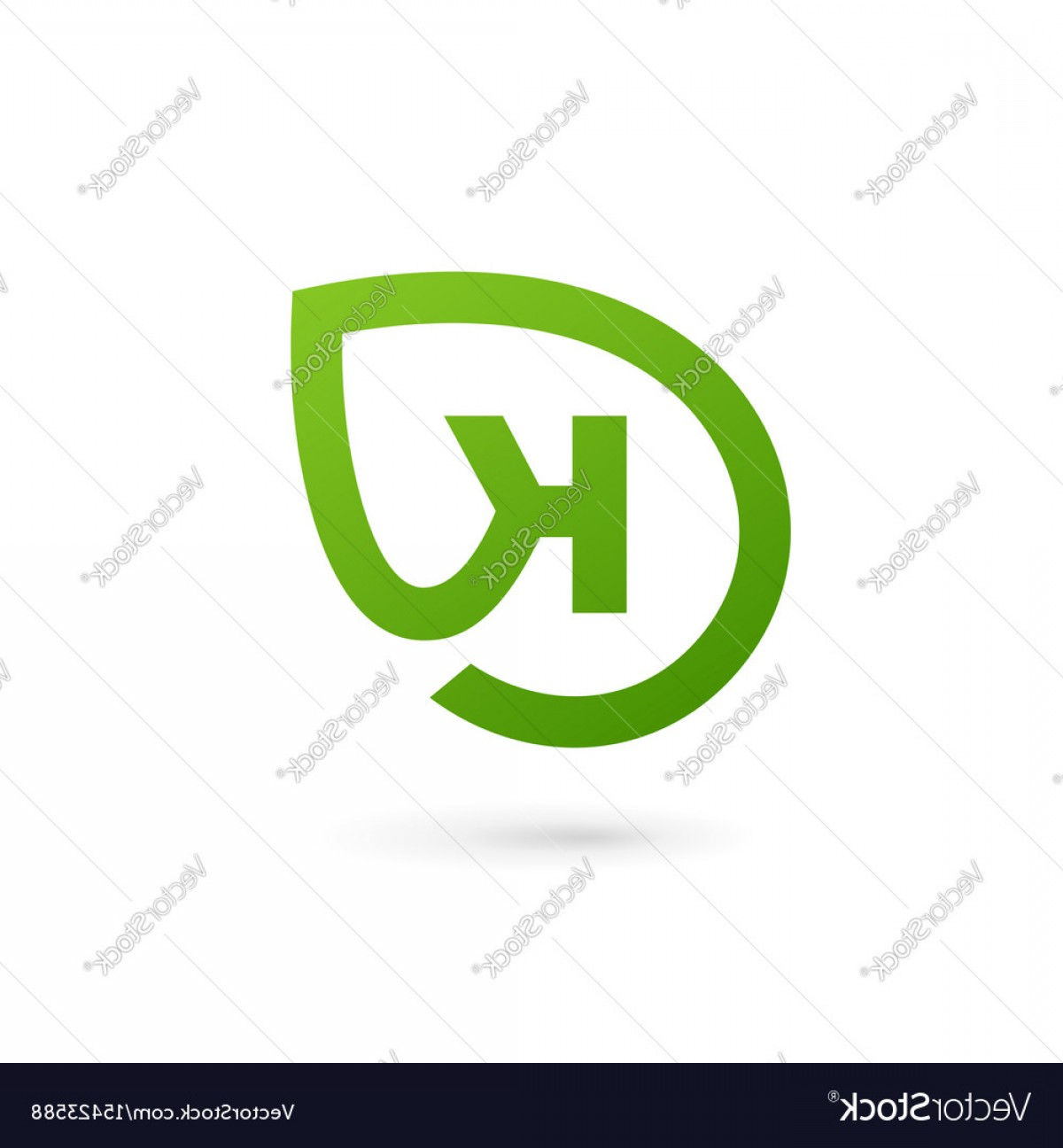 Parallel Vectors K: Letter K Eco Leaves Logo Icon Design Template Vector