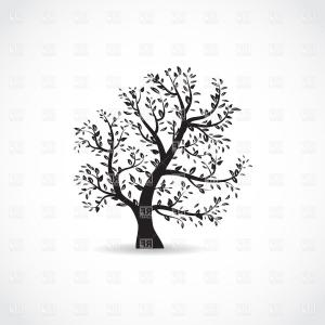 Tree Silhouette Vector Clip Art: Fir Tree Silhouette Vector Clipart