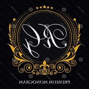 Gold Ornament Elements Vector 3: Leafy Ornament Graceful Frame Monogram Initials Exclusive Calligraphic Design Elements Vector Gold Decorative Frame Vector Image