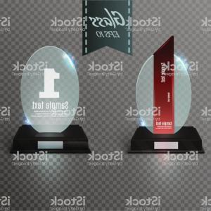 Regal Vector Background: Leere Glas Award Trophcae Auf Einem Transparenten Background Glass Regal Gm
