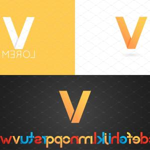 V Logo Vector: Stock Illustration Elegant Letter V Logo Vector