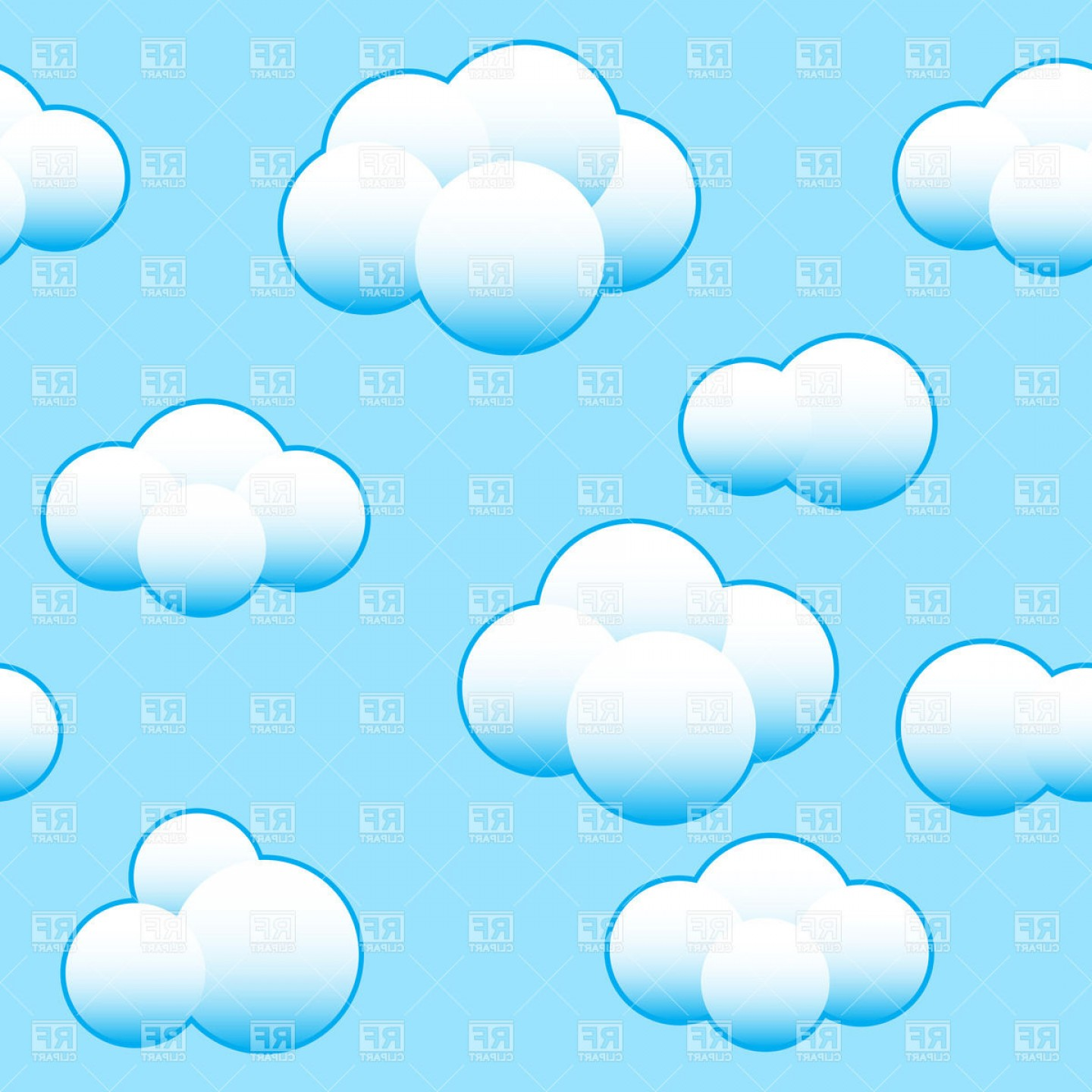 Clouds Backgrounds Vector: Light Blue Sky Background With White Clouds Vector Clipart