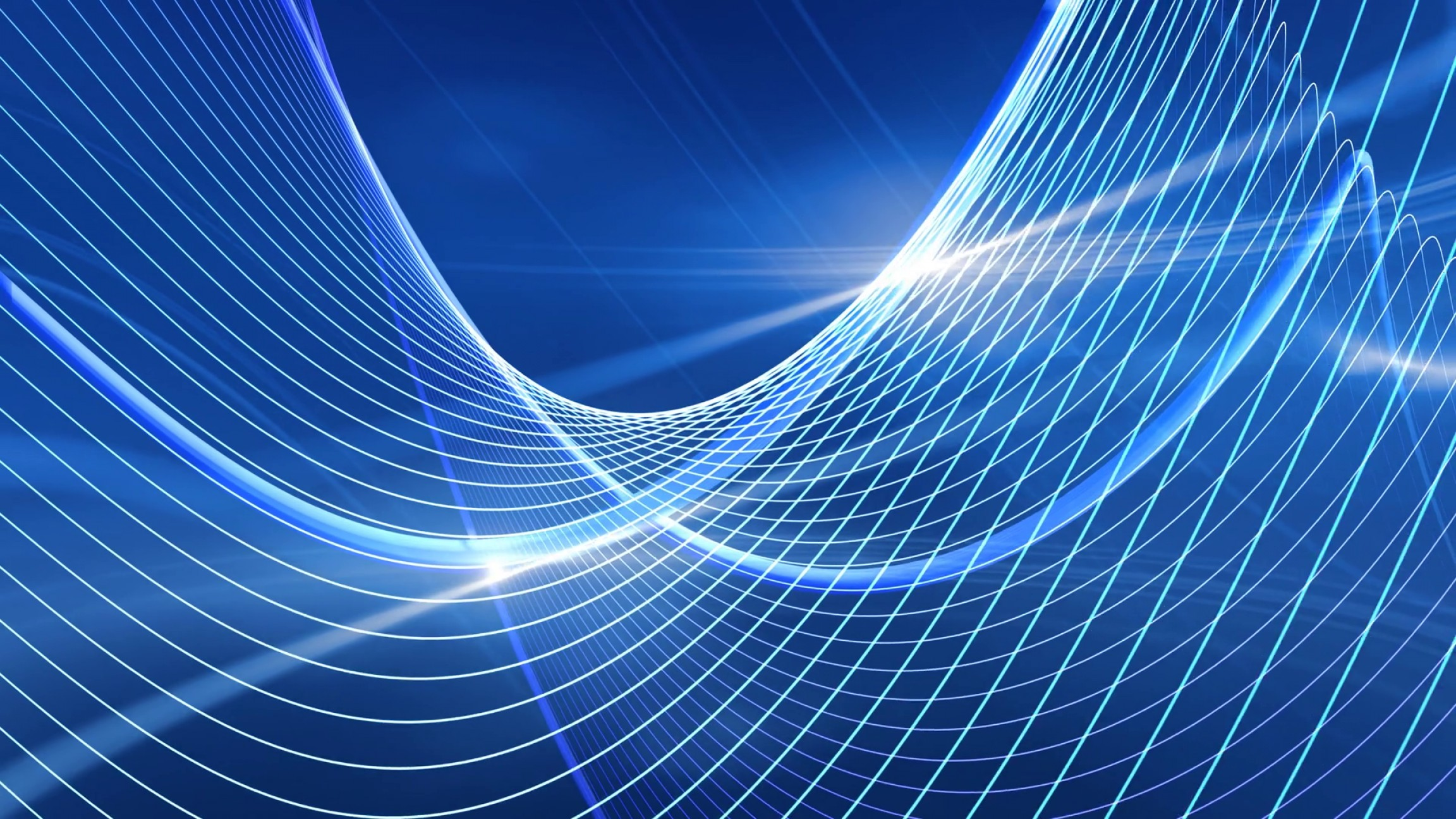 Backgroung Vector: Light Waves Abstract Vector Blue Motion Background Spaokeiziilcy