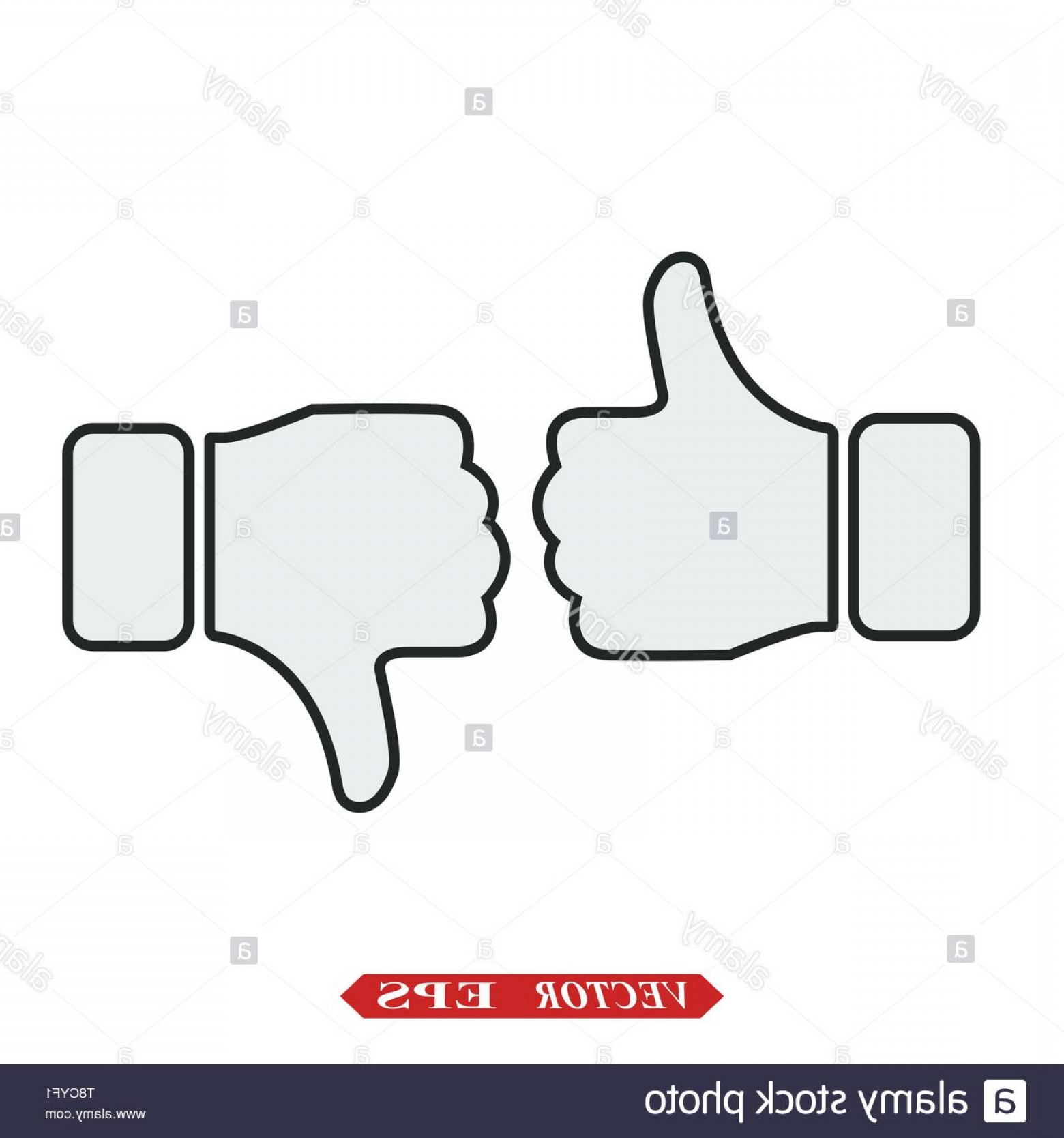Vector Thumbs Up Down: Like Icon Vector Thumbs Up Icon Social Media Icon Like And Dislike Icon Thumbs Up And Thumbs Down Image