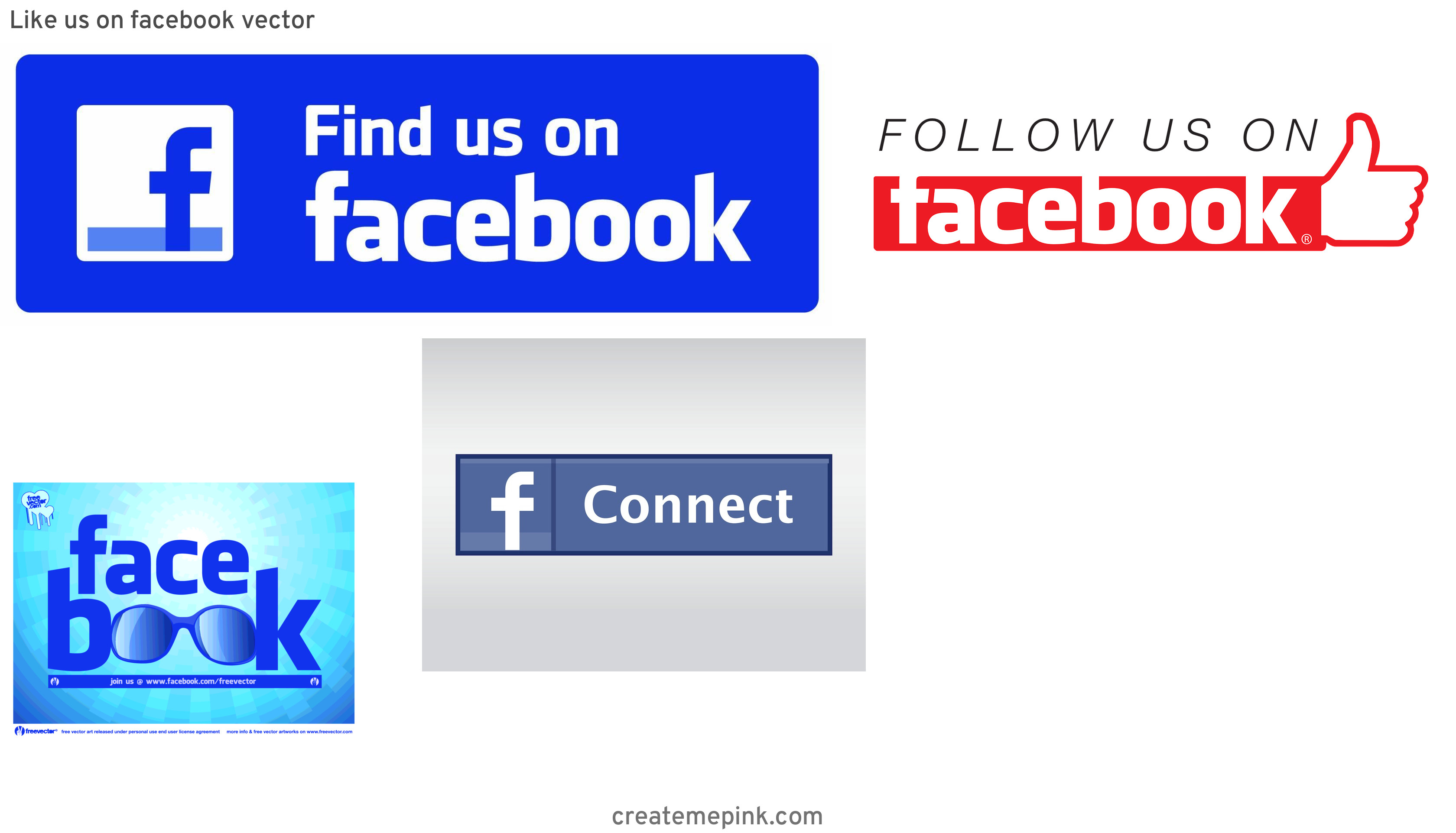 Official Like Us On Facebook Logo Vector: Like Us On Facebook Vector