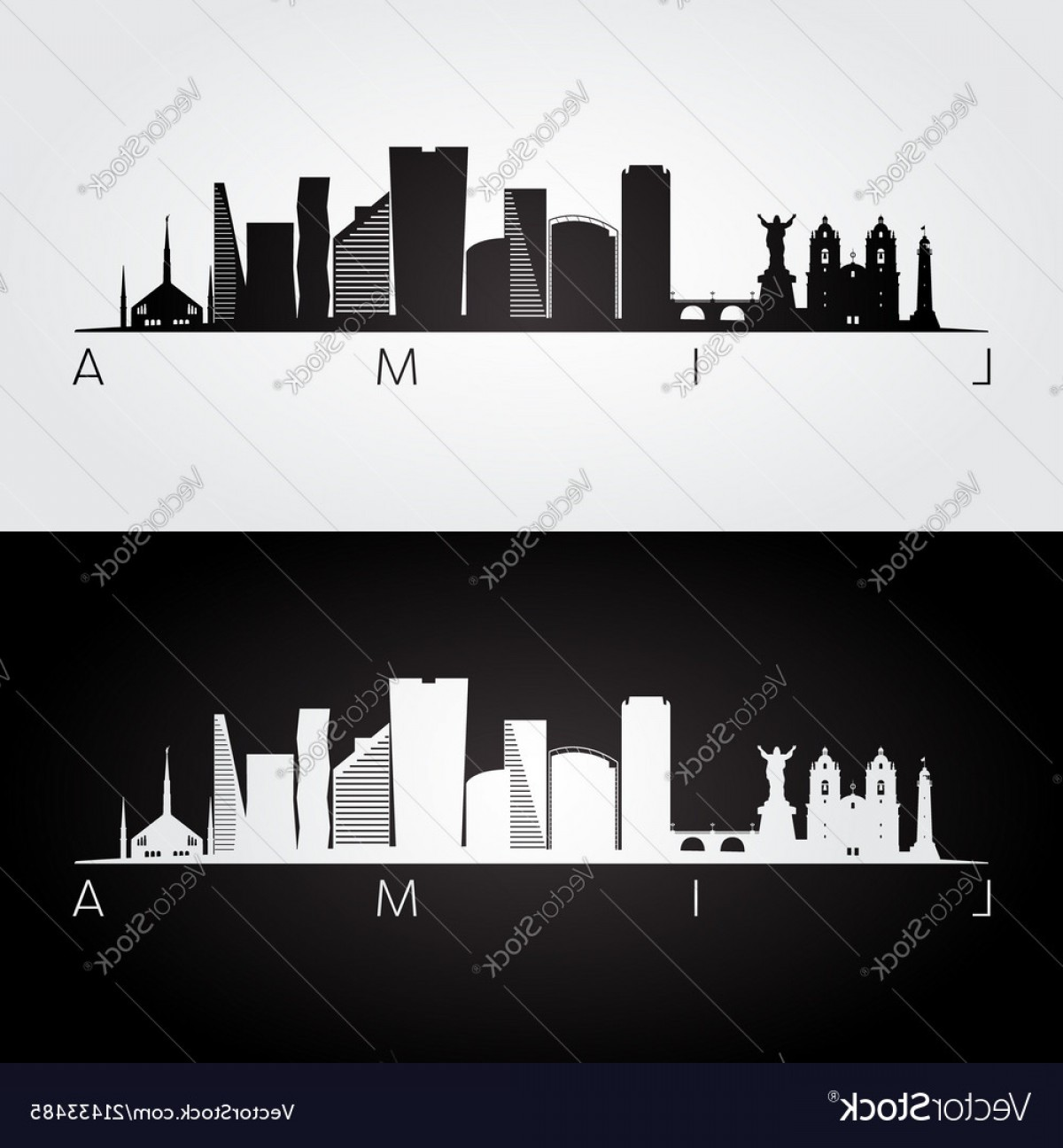 Wicked Boston Skyline Silhouette Vector: Lima Skyline And Landmarks Silhouette Vector