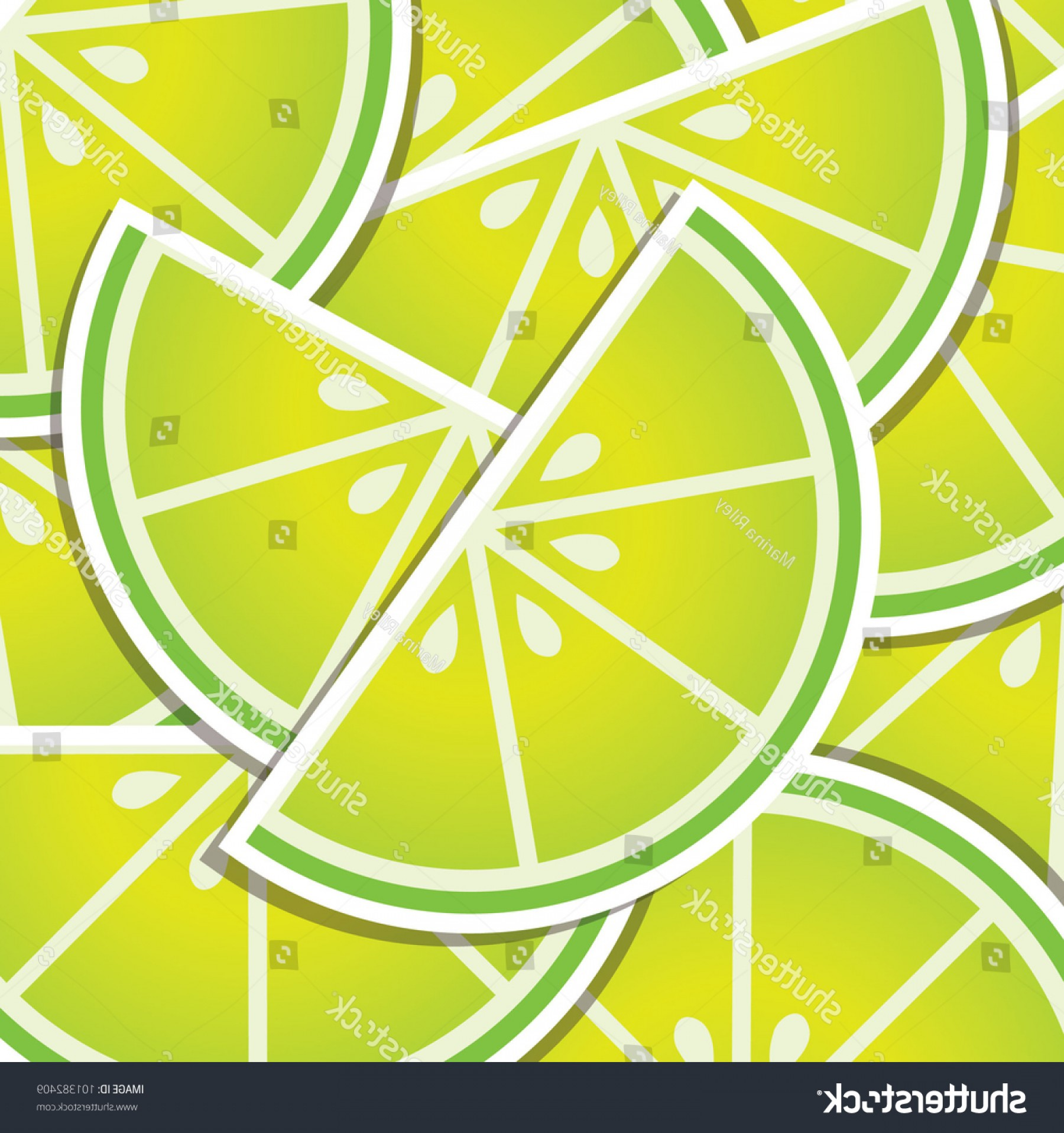 Lime Wedge Vector Art: Lime Wedge Backgroundcard Vector Format